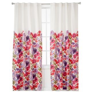 Boho Boutique™ Garden Lined Curtain Panel   Floral (42x84)
