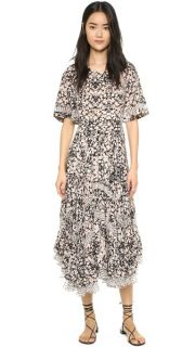 Rebecca Taylor Mixed Print Dress