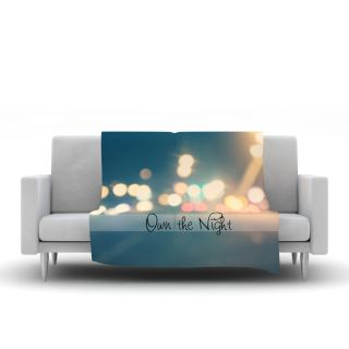 Own The Night by Beth Engel Fleece Throw Blanket by KESS InHouse