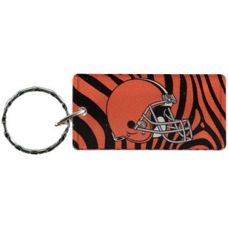 Cleveland Browns Zebra Printed Acrylic Team Color Logo Keychain