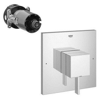 Grohe 19924000 Eurocube Single Function Pressure Balance Shower Trim with Control Module in Starlight Chrome
