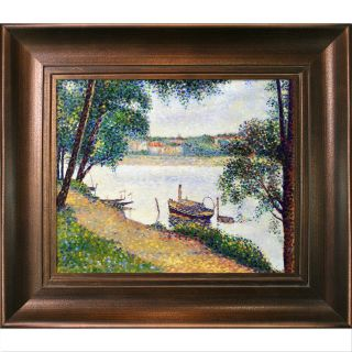 Gray Weather by Georges Seurat Framed Painting Print by La Pastiche