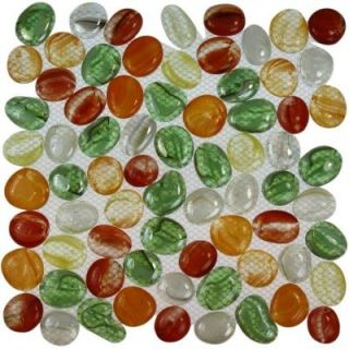 Splashback Tile 12 in. x 12 in. Glass Mosaic Floor and Wall Tile DISCONTINUED CANDY