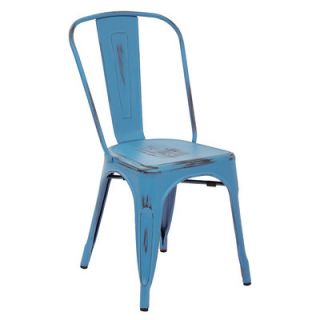 OSP Designs Bristow Armless Stacking Chair