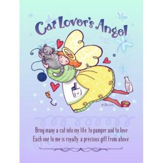 Caroline's Treasures Everybody's Angel Cat Lover's Angel Vertical Flag