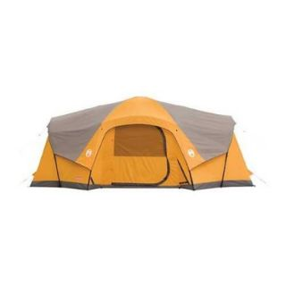 Coleman Camping Canyon Breeze 10 Person Family Cabin Waterproof Tent 19' x 12'