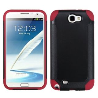 INSTEN Black/ Red Frosted Phone Case Cover for Samsung Galaxy Note II