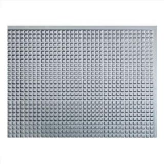 Fasade 24 in. x 18 in. Squares PVC Decorative Backsplash Panel in Argent Silver B64 09