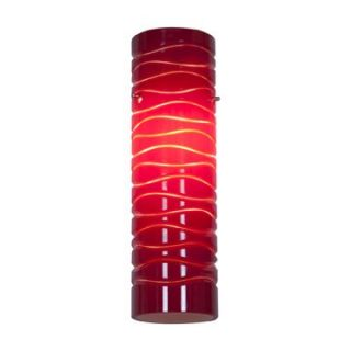 Access Lighting 932V REDLN Anari Silk l Duplex Cylinder Glass Shade in Red Lined