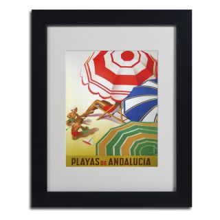 Vintage Apple Collection Beaches of Andalucia Framed Matted Art