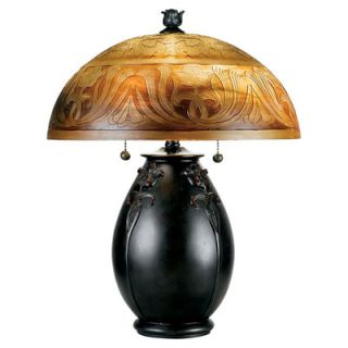 Astoria Grand Deary 18 H Table Lamp with Bowl Shade
