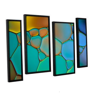 Connected II by Cora Niele 4 Piece Framed Graphic Art on Canvas Set