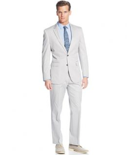 Kenneth Cole New York Light Grey Cotton Suit Separates   Suits & Suit