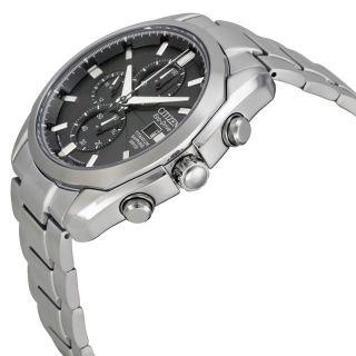 Citizen Eco Drive Titanium Chronograph Mens Watch CA0020 56E   Mens