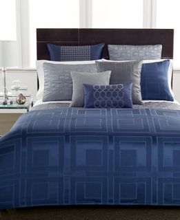 Hotel Collection Quadre Blue Duvet Covers   Bedding Collections   Bed
