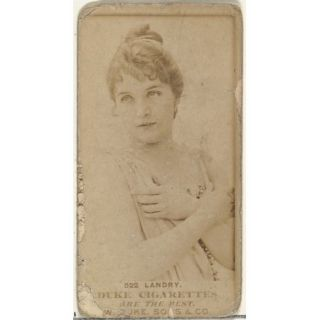 Card Number 522 Miss Landry from the Actors and Actresses series (N145 7) issued by Duke Sons & Co. to promote Duke Cigarettes Poster Print (18 x 24)