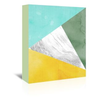 Geometric Graphic Art on Wrapped Canvas by Americanflat