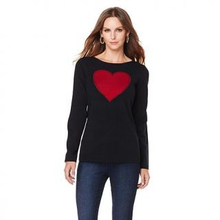 Jamie Gries Collection Crew Neck Heart Sweater   7810437