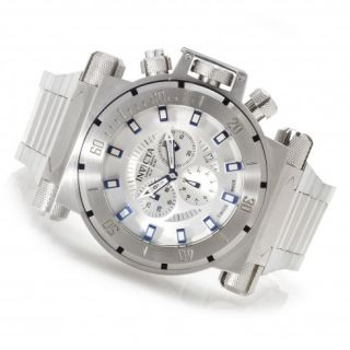 Invicta Coalition Chronograph Silver tone Dial Stainless Steel Mens