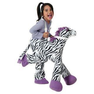 Toddler Zebra Plush Rider OSFM
