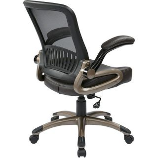 WorkSmart EM3520 Screen Back and Eco Leather Seat Managers Chair
