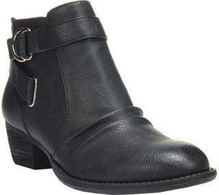 Womens Dr. Scholls Jolly Ankle Boot   Black Polyurethane
