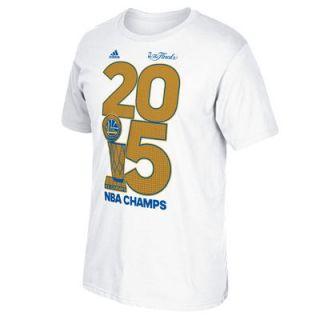 Golden State Warriors adidas 2015 NBA Finals Champions Golden Year T Shirt   White