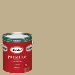 Glidden Premium 1 gal. #HDGY50D Gift of Golden Straw Semi Gloss Interior Paint with Primer HDGY50DP 01S