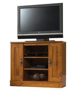 Sauder Harvest Mill Corner Entertainment Stand   Abbey Oak   TV Stands