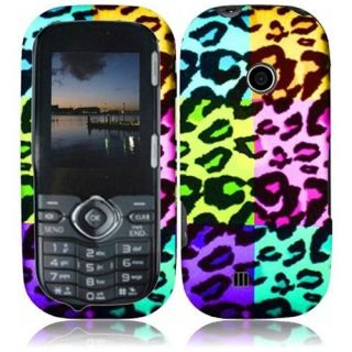 INSTEN For LG Cosmos 3 VN251S LG Cosmos 2 VN251 Rubberized Design Case Colorful Leopard