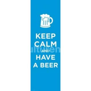 Keep Calm And Drink Beer Poster Print (36 X 12)