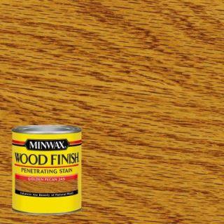 Minwax 1 qt. Wood Finish Golden Pecan Oil Based Interior Stain 70041444