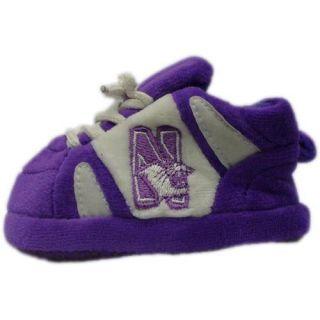 Comfy Feet   NOR03PR   Northwestern Wildcats Baby Slipper   Newborn to 9 Month