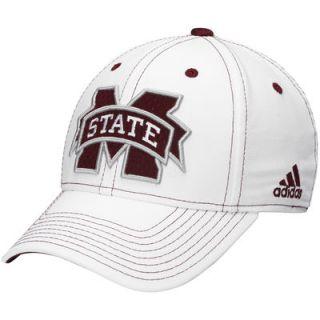 Mississippi State Bulldogs adidas Structured Flex Hat   White