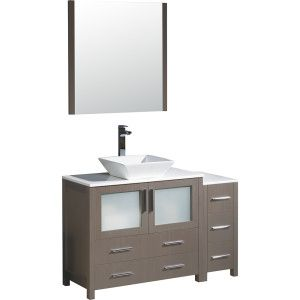 Fresca FVN62 3612GO VSL Torino Gray Oak  Single Basin Bathroom Vanity Sets