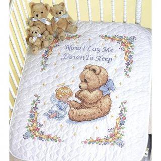 "Baby Hugs Quilt Stamped Cross Stitch Kit   43"" x 34"" Sweet Prayer   6354313"