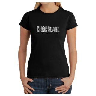 Los Angeles Pop Art Womens Chocolate T shirt   13593485