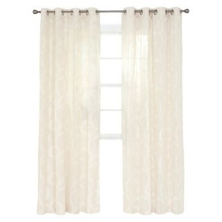 Yorkshire Home Andrea Embroidered Curtain Panel