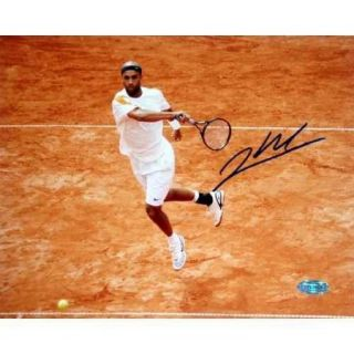 James Blake Red Clay In Air Autographed Photo