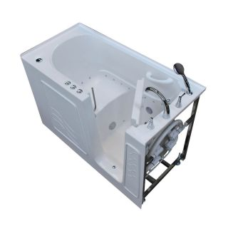 Endurance 60 in L x 30 in W x 38 in H White Gelcoat and Fiberglass Rectangular Walk in Air Bath