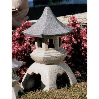 Design Toscano Large Pagoda Lantern Sculpture   Garden Statues