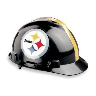 MSA Casco con Ala Delantera V Gard de los Pittsburgh Steelers de la NFL, Tamaño Universal   4VP57|818407   Grainger