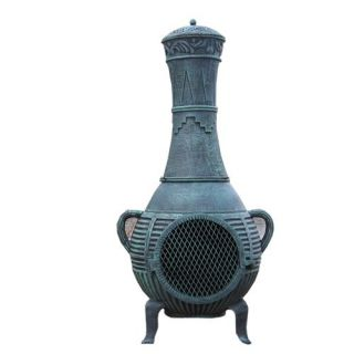 Blue Rooster CH015 Pine Cast Aluminum Chiminea