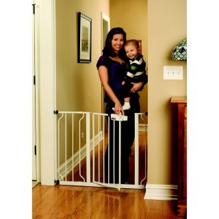 Regalo Easy Step Extra Wide Metal Walk Through Safety Gate   Baby