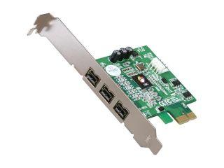 SIIG 3 Ports FireWire 800 PCIe Card Model NN FW0012 S1