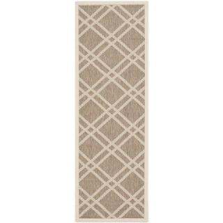 Safavieh Indoor/ Outdoor Courtyard Brown/ Bone Rug (23 x 67