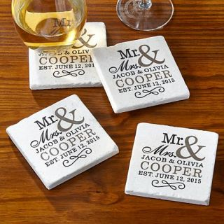 Personal Creations Personalized Mr. & Mrs. Coasters   7830852