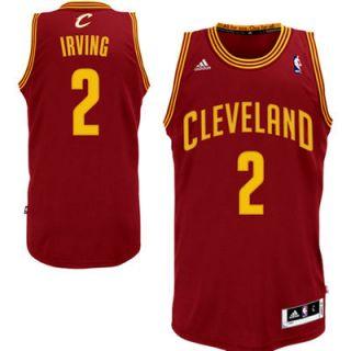 b108cbdda Kyrie Irving Cleveland Cavaliers adidas Swingman Road Jersey Wine on ...