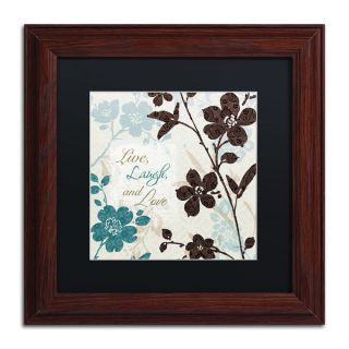 Lisa Audit Botanical Touch Quote II Black Matte, Wood Framed Wall