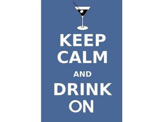 Keep Calm and Drink Martini Poster Print by Marcus Jules (12 x 19)